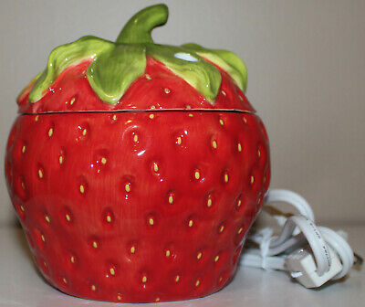 Yankee Candle Electric Melt Tart Warmer ~ceramic Strawberry Fruit~