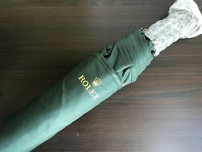Rolex Authentic Small Forest Green Umbrella With Sleeve