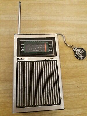 Vintage Federal Radio Am/fm-tv1/wb-tv2  Model Tvr-12 Transistor