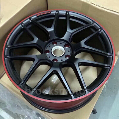 """21"""" Edition 1 Style Wheels Rims Fits Mercedes Benz W463 G63g65 Red Lip Offset36"""