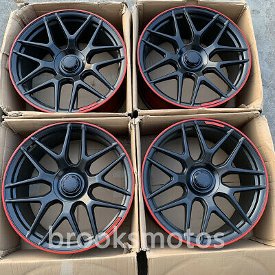 """22"""" Edition 1 Style Wheels Rims Fits Mercedes Benz W463 W464 G63 G550 Offset36"""