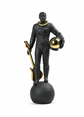 Lladro Walking On The Moon Figurine. Black Gold 01009409