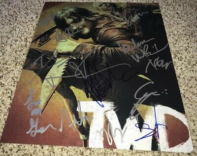 The Walking Dead Signed Season 10 Cast 11x14 Photo X15 Norman Reedus, Mcbride
