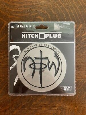 Not Of This World Hitch Plug Solid Metal Brushed Aluminum