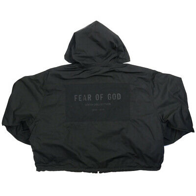 Fear Of God Sixth Collection Nylon Full Zip Hoodie Black M