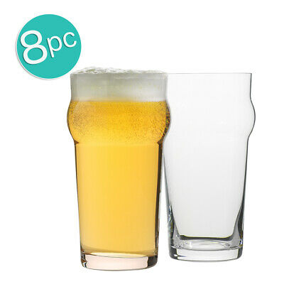 8pc Ecology Classic 640ml Clear Beer Glass Pint Glasses Glassware Barware Set