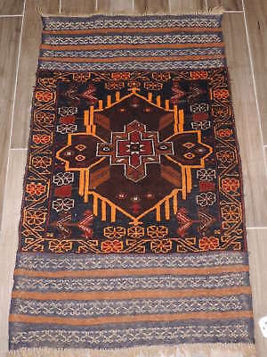 3x4ft. Handmade Afghan Balouch Wool Tribal Saddle Blanket