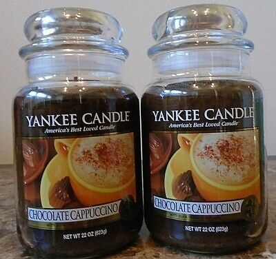 Yankee Candle   Chocolate Cappuccino   22 Oz.  Lot Of 2  New   Free Shipping