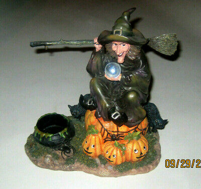 Yankee Candle Witch With A Crystal Ball Candle Holder Hard To Fin