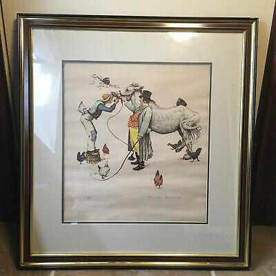 Norman Rockwell Artist Proof - Horse Trader - Framed And Matted Collectable Art