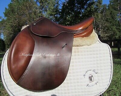 """15/ 15.5"""" Butet Child Pony Close Contact Jumping Saddle # 0 Flap-very Rare Find!"""