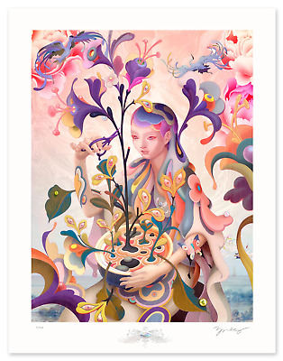 James Jean The Editor Poster Print Signed X/500 Like Erhu Adrift Sold Out