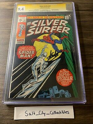 Silver Surfer #14 (marvel, 1970)   Cgc 9.4   Ss Stan Lee Signed   Nm