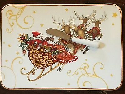 New Williams Sonoma Twas The Night Before Christmas Cheese Board Serving Set