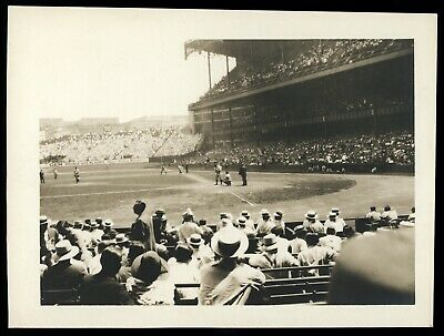1926 Yankee Stadium Snapshot Type 1 Original Photo Psa/dna *lou Gehrig At Bat*