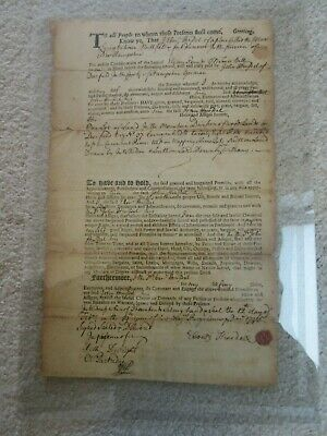 Collection Of 1700s Deerfield, Ma, Land Transfer Documents, From Early Settlers