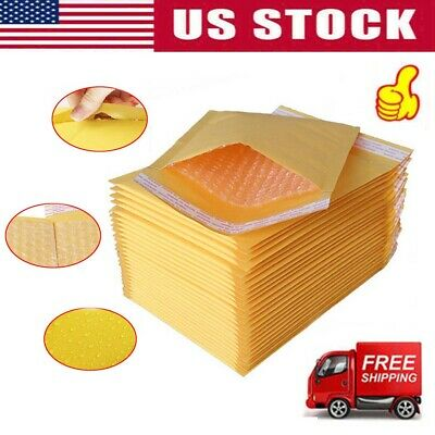 #000 Kraft Bubble Padded Envelopes Mailers 5x8 Us Shippng