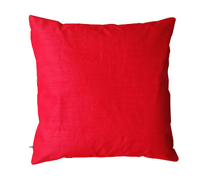 """Indian Silk Sofa Bed Cushion Cover Throw Pillow Case Pillowcase Simple Solid 16"""""""