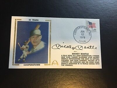 Gateway Envelope Mickey Mantle July 1979 Autographed Yankee Hofer Free Shipping