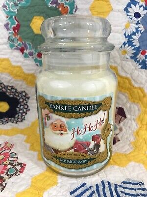 Yankee Candle Large 22oz Jar Nostalgic Snow White Christmas Santa Ho Ho Ho - New