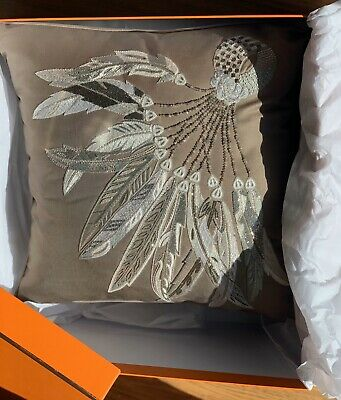 Hermes Decorating Throw Pillow Bnib