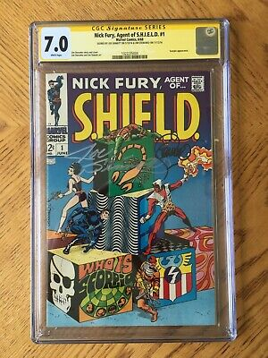Nick Fury, Agent Of Shield #1 Signed By Sinnott & Steranko 1st Issue 7.0 Fn/vf