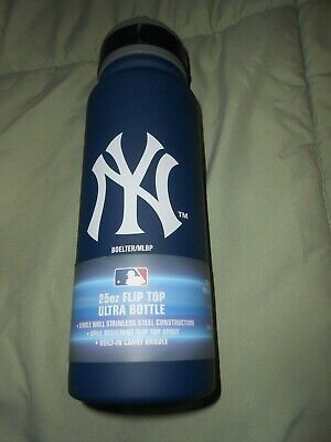 Mlb New York Yankee 25 Oz Flip Top Ultra Bottle New