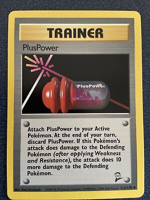 PlusPower Trainer 113/130 Uncommon Base Set 2 Pokemon NM