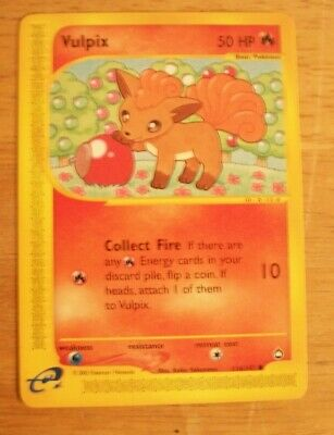 Vulpix Pokemon Card Common 116/147 Pokemon TCG Aquapolis Set