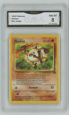 1999 Pokemon Jungle Unlimited #55 Mankey Graded GMA 8 Nm-Mt Z11