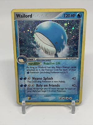 Pokemon Legend Maker Wailord 14/92 Holographic Card LP