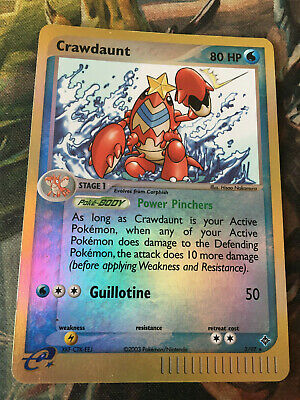 Pokemon Crawdaunt - MP Reverse Foil - EX Dragon (3/97)