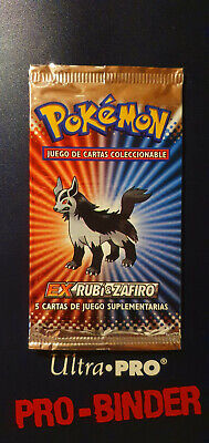 ❗❗ POKEMON Spanish EX Ruby & Sapphire Booster Pack Mightyena NEW SEALED 2003 ❗❗