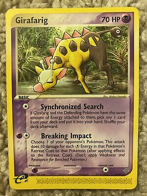 Girafarig 16/97 Non-Holo Ex Dragon Pokemon Card LP!