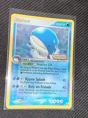 Wailord 14/92 English Reverse Holo Foil - Pokemon EX Legend Maker Booster Box