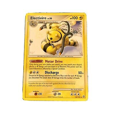 Electivire 25/132 Rare Diamond & Pearl Secret Wonders LP Pokemon card