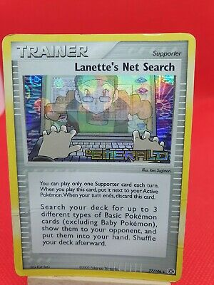 Lanette's Net Search 77/106 - Holo EX Emerald Pokemon Card