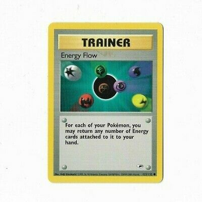 Pokemon Card Trainer Energy Flow Gym Heroes 122/132 Excellent To Near Mint