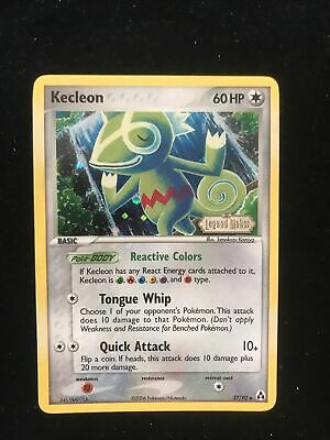 Kecleon 37/92 / EX Legend Maker Pokemon Card TCG / Light Play