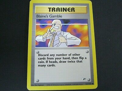 Pokemon Card Gym Heroes Number 121 BLAINE'S GAMBLE