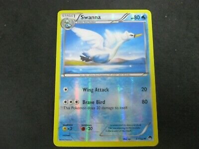 Pokemon Card BREAKpoint Holo SWANNA Number 37