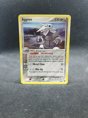 Aggron Holo Pokemon Card - 1/108 - EXC - EX Power Keepers.