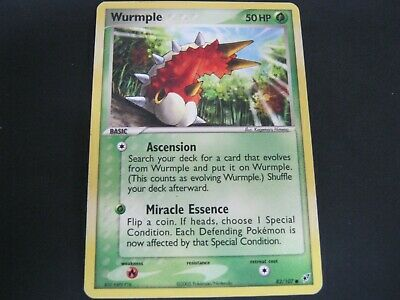 Pokemon Card Ex Deoxys Number 82 WURMPLE