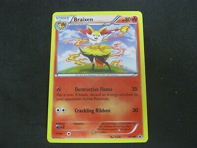 Pokemon Card Furious Fists Promo Number XY161 BRAIXEN