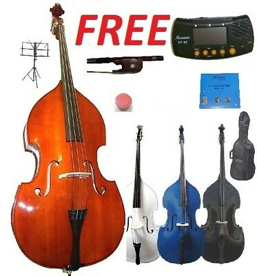 new upright bass,carrying bag,bow+accs ~ student,beginner,band,orchestra,school