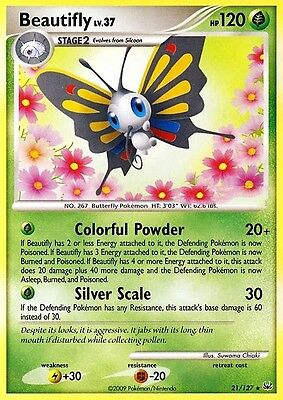 Dp Platinum Pokemon Rare Card - Beautifly 21/127