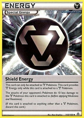 Shield Energy 143/160 - Primal Clash Pokemon Trainer Card New Mint