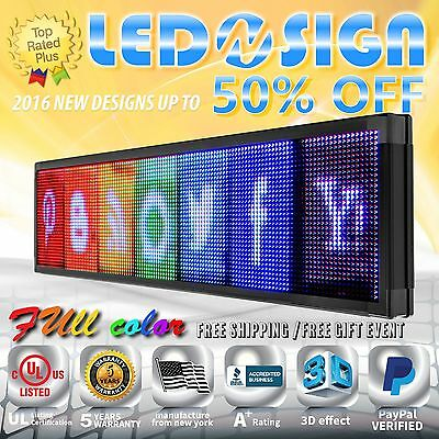 """Led Sign: Full Color 36""""x53"""" Programmable Emc Scrolling Readerboard Outdoor Sign"""