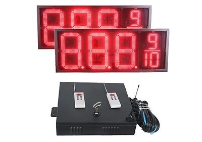 """18"""" Led Gas Price Sign - Two Signs & Controller 5 Year Warranty Complete Package"""