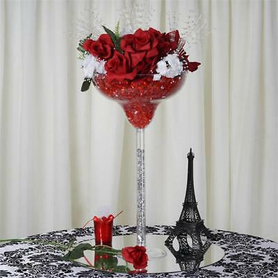 "18"" Clear Plastic Margarita Vases Cups Wedding Party Centerpieces Decorations"